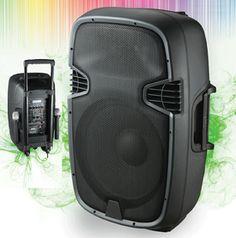 IN2112AUS CB Cassa attiva 500 Watt USB SD Microfoni - Casse acustiche amplificate attive diffusori karaoke impianto audio altoparlanti