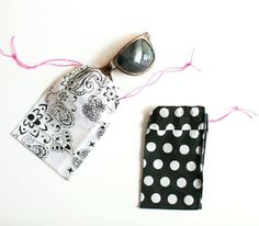 Having a sunglasses case is a lifesaver in those moments. Get creative with these 21 cool DIY sunglasses cases that are fun and practical! How To Tie Bandana, Bandana Crafts, Trash To Couture, Crafts For Seniors, Senior Crafts, Diy Accessories, Cool Diy, Fun To Be One, Hippy