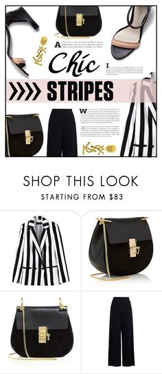 """""""the Chic Stripes"""" by elisapar ❤ liked on Polyvore featuring 3.1 Phillip Lim, Chloé, Zimmermann, Yves Saint Laurent and stripes"""