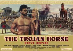 The Trojan Horse Director: Giorgio Ferroni Steve Reeves, Movie Theater, Movie Tv, John Drew Barrymore, Marc Singer, Cinema Posters, Movie Posters, Action Movie Stars, Spanish Posters