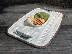 Wood Serving Tray  Galvanized Boat Cleat  by HarborsideCollection - New Weathered White products in the Harborside Collection shop at www.etsy.com/shop/HarborsideCollection - Some itmes in stock ready to ship - Just Ask!