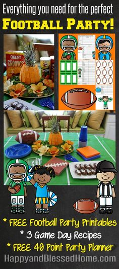 Football Party Fun with FREE Planning Printables and Cheez-It and Pringles Pineapple Recipe includes three recipes for Game Day food & FREE Football Party Printables from HappyandBlessedHome.com #BigGameSnacks #ad #CollectiveBias @Walmart #CRUNCHD