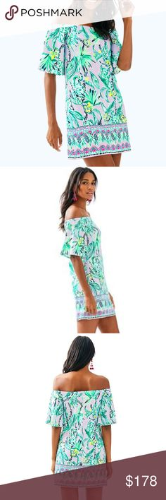 e44d4dbe1c NWT Lilly Pulitzer Fawcett Off The Shoulder Dress FAWCETT OFF THE SHOULDER  DRESS Straight Fit,. M_5ae622683800c5555ba47289