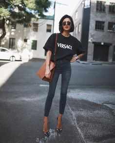 Versace tee and jeans