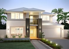 Clarendon Homes Arlington Facade Modern Architecture House, Modern House Design, Clarendon Homes, Double Story House, Facade House, House Facades, Storey Homes, Dream House Exterior, Design Case