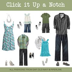 Click it Up a Notch has photography info including outfit suggestions for clients.