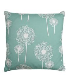 This Cascade Dandelion Glitter Square Throw Pillow by THRO is perfect! #zulilyfinds