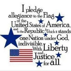 We said the pledge every morning at school