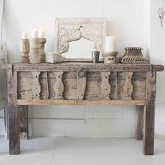home accessories creative Rustic Indian Console Gypsy Home Decor, Boho Decor, Furniture Styles, Furniture Decor, Moroccan Decor, Rustic Interiors, Decoration, Interior Inspiration, Home Accessories