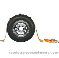 WDWT124101 1-1/4inch single motorcycle rear wheel tie down with swivel j hook