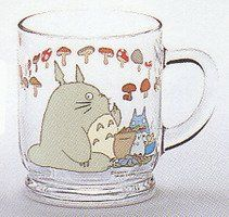 MUG CUP - GLASS - Noritake - Made in Japan - Totoro - Studio Ghibli - no production (RARE)