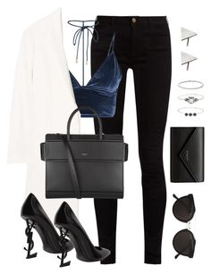 """""""Untitled #3136"""" by theaverageauburn on Polyvore featuring Gucci, MANGO, Yves Saint Laurent, Givenchy, RetroSuperFuture, Balenciaga, Accessorize and Rachel Jackson"""