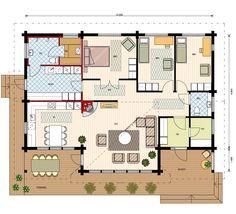 Kimara Aurinkorinne on nykyaikainen ekologinen hirsikoti, jossa toteutuu lapsiperheen unelma avarasta ja helppohoitoisesta kodista. Kimara Aurinkorinne oli Hyvinkään asuntomessujen yleisön suosikki ja messujen paras talo sekä yleisöäänestyksessä ylivoimainen messuvoittaja vuonna 2013. Finland, House Plans, Floor Plans, How To Plan, House Floor Plans, Floor Plan Drawing, Home Plans