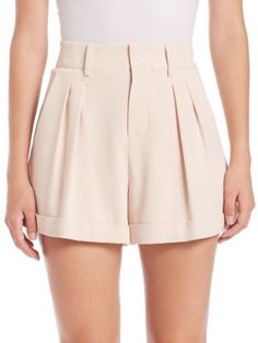 Alice and Olivia – Amani High-Waist Pleated Shorts Alice and Olivia – Amani High-Waist Pleated Shorts Pleated Shorts, High Waisted Shorts, Teen Fashion Outfits, Short Outfits, Como Fazer Short, Pants For Women, Clothes For Women, Women Shorts, Womens Workout Outfits