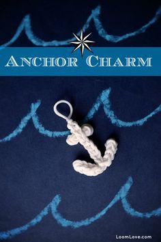How to Make a Rainbow Loom Anchor Charm