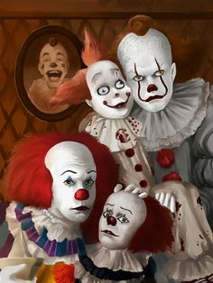 Clowning Around by ALStanford on DeviantArt Clown Horror, Funny Horror, Horror Art, Le Clown, Creepy Clown, Scary Movies, Horror Movies, Pennywise The Dancing Clown, Clowning Around