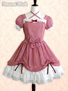 I can imagine myself going to a town fair or out to a picnic. I just need cute Lolita shoes and an old fashion country hat with ribbons. Lolita Shoes, Lolita Dress, Simple Dresses, Pretty Dresses, Poppy Costume, Porcelain Doll Costume, Country Hats, Elegant Outfit, Retro Dress
