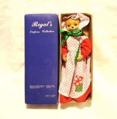 Country Cat  dressed doll in box Regal Greetings and Gifts vintage by MaggieTheTortoiseCat on Etsy