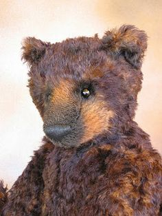 """Don't know if he's vintage or an artist bear, but I HAD to pin him...he's too incredible not to """"keep"""" SOMEWHERE. Love him. I used to make bears (AJ Collectibles) often mistaken for vintage Steiff bears, and I really appreciate this fellow!"""
