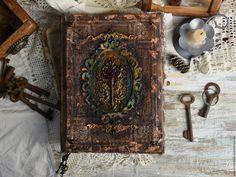 """Купить Блокнот №10 из серии """"Старинная книга"""" - коричневый, блокнот, блокноты, дневник, винтажный, винтаж"""