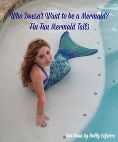 Who Doesn't Want to Be a Mermaid? See how much fun it is to play in a swimmable mermaid tail from #FinFunMermaid AD