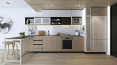 Kitchens have Smeg appliances and an upgrade option of movable island benches and porcelain splashbacks.