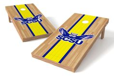 Southern Connecticut State Owls Cornhole Board Set - Court (w/Bluetooth Speakers)