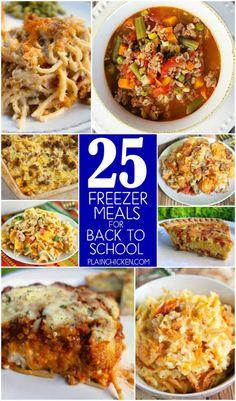 25 Freezer Meals for Back to SchoolReally nice recipes. Every  Mein Blog: Alles rund um Genuss & Geschmack  Kochen Backen Braten Vorspeisen Mains & Desserts!