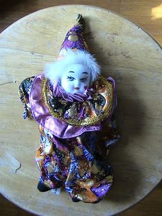 SMALL CLOWN DOLL WITH A PORCELAIN FACE | Collectibles, Decorative Collectibles, Figurines | eBay! Clowns, Captain Hat, Porcelain, Dolls, Christmas Ornaments, Holiday Decor, Hats, Ebay, Baby Dolls