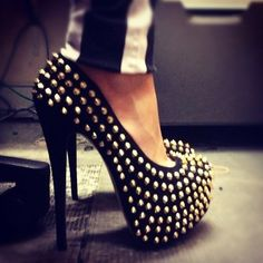 Studed shoes