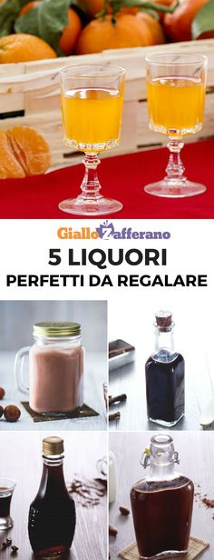 Chocolate, Licorice, Coffee, Nutella and Tangerine: Five Ideas for Homemade Liqueurs. They are easy How To Make Drinks, Food To Make, Nutella, Tasty, Yummy Food, Buffet, Alcoholic Drinks, Food And Drink, Dessert Recipes