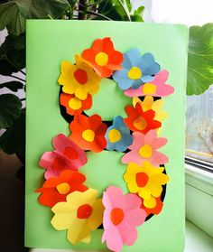 Diy And Crafts, Crafts For Kids, Arts And Crafts, 8 Mars, March Crafts, Art Activities For Toddlers, Dress Card, Mothers Day Crafts, 8th Of March