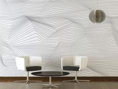 Geometric wallpaper CRISTAL FROISSÉ by nathalie tricot AQUILIA - DECLIK