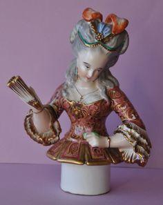 Antique Figurine part of a Tisaniere Tisane Jacob Petit French Paris Half Doll