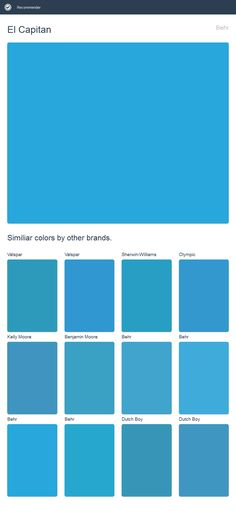 El Capitan, Behr. Click the image to see similiar colors by other brands.