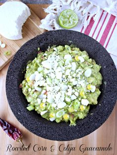 Simply Healthy Family: Cotija and Roasted Corn Guacamole ‪#‎IsabelsBirthdayBash‬