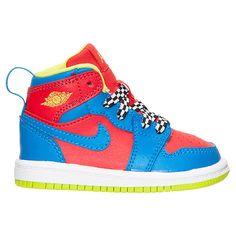 Boys' Toddler Air Jordan Retro 1 High Basketball Shoes