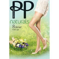 Pretty Polly Naturals 8 Denier Hold Ups SandalToe