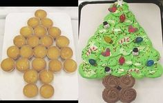 Christmas Tree Pull-A-Part Cupcakes - Cake Pros