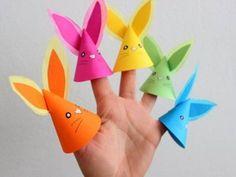 Vingerpopjes haas / Como hacer marionetas de dedos