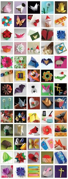 So many awesome colorful creations in this--it's like an origami smorgasbord.  --Pia (Origami video tutorials) from Origami Spirit