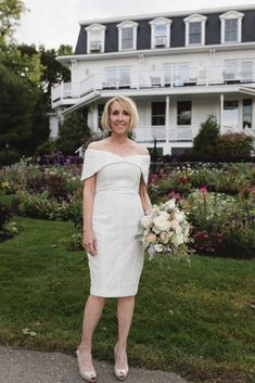 Intimate and Charming New England Bed and Breakfast Wedding – Juliana Montane Photography 27 Destination Wedding, Wedding Day, Little White Dresses, Nude Color, Intimate Weddings, I Dress, New England, Wedding Styles, Fashion Beauty
