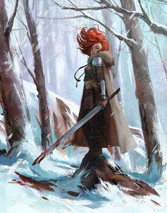 Female warrior. Fantasy