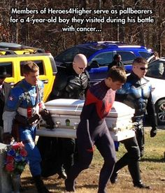 Sometimes, superheroes are real… Beautiful and sad.