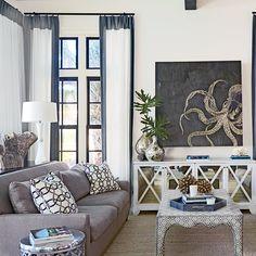 Turquoise Coastal Living Room Design Coastal Living Rooms - Coastal living rooms