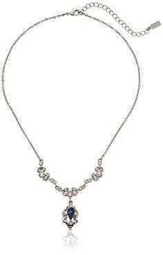 b34b5cbe0b92 Downton Abbey Silver-Tone Montana Blue Crystal Belle Epoch Pendant Necklace
