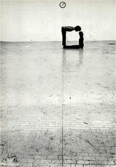 """Time-Space-Body and Action""  at Gallery L'Attico in Rome, 1972 by Klaus Rinke"