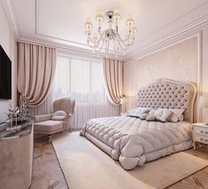 Nightstands, beds, side tables, cabinets or armchairs are some of the luxury bedroom furniture tips that you can find. Every detail matters when we are decorating our master bedroom, right? Modern Luxury Bedroom, Luxury Bedroom Furniture, Luxury Bedroom Design, Girl Bedroom Designs, Master Bedroom Design, Bedroom Styles, Luxurious Bedrooms, Home Bedroom, Bedroom Decor