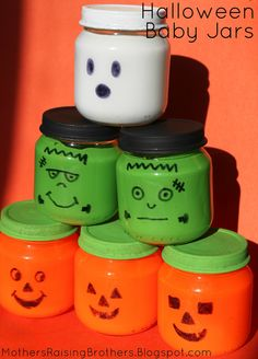 Halloween baby food jars! - Mothers Raising Brothers