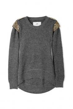 Day Birger et Mikkelsen Grey Day Eminence Sequinned Shoulder Sweater, $328
